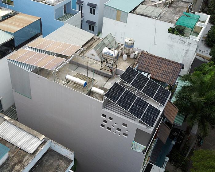 điện mặt trời hòa lưới áp mái 8KW cho cô Liên ở Quận 8 6
