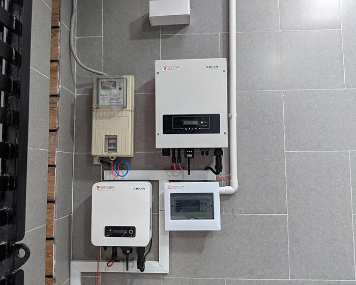 điện mặt trời hòa lưới áp mái 8KW cho cô Liên ở Quận 8 7