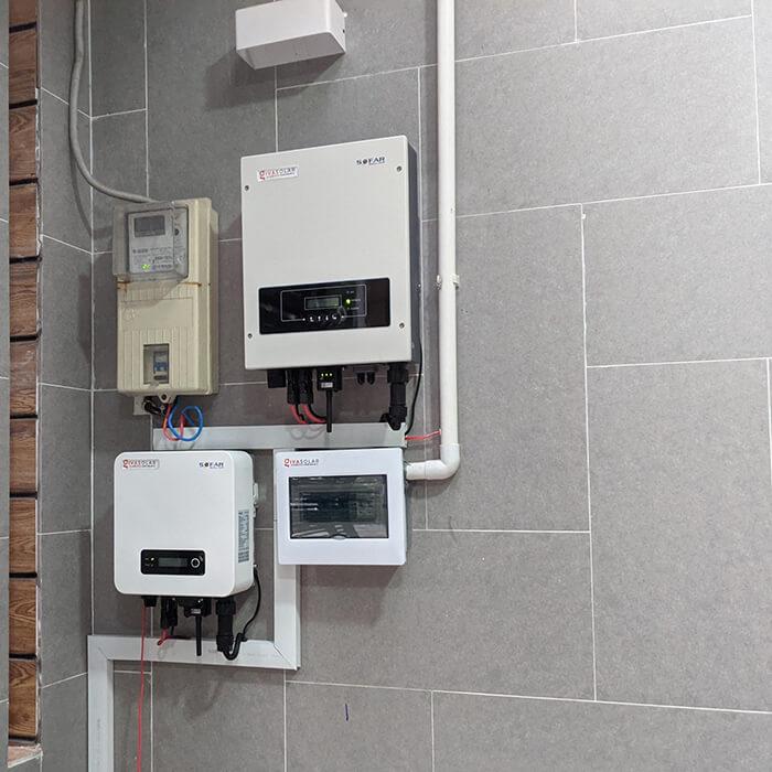 điện mặt trời hòa lưới áp mái 8KW cho cô Liên ở Quận 8 8