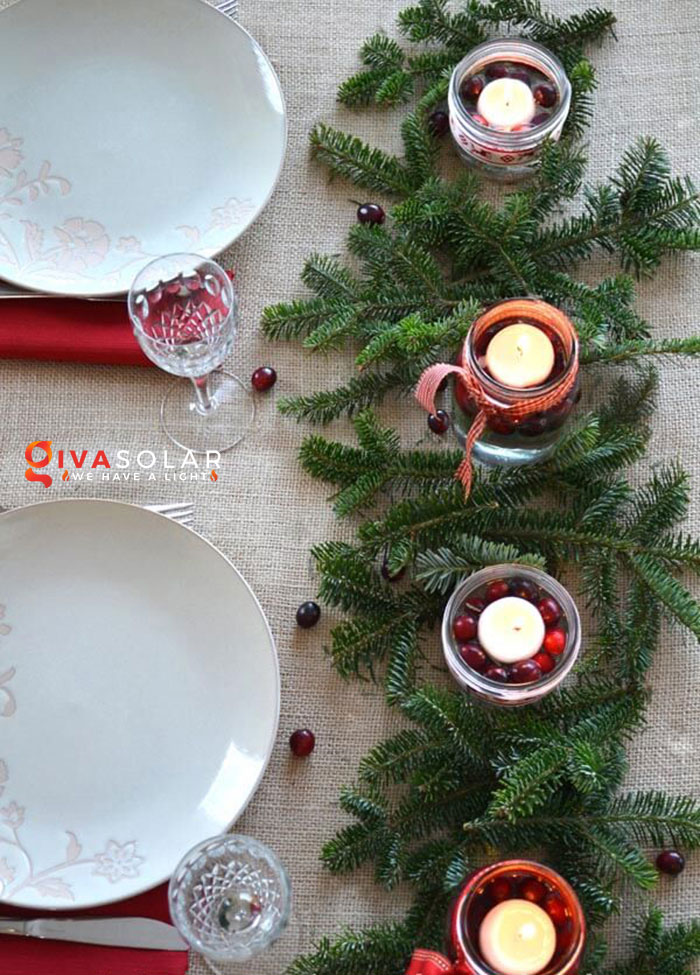 trang trí bàn ăn Noel tự làm tuyệt vời 11