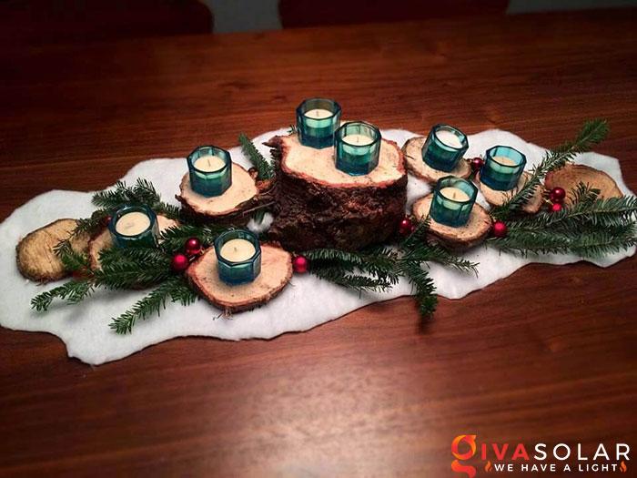 trang trí bàn ăn Noel tự làm tuyệt vời 18