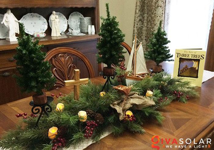 trang trí bàn ăn Noel tự làm tuyệt vời 19