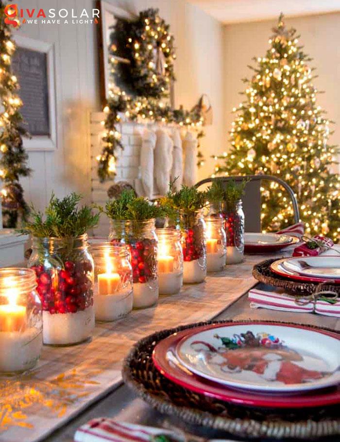 trang trí bàn ăn Noel tự làm tuyệt vời 29