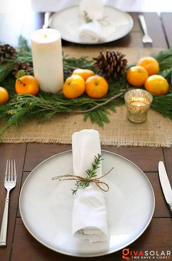 trang trí bàn ăn Noel tự làm tuyệt vời 43