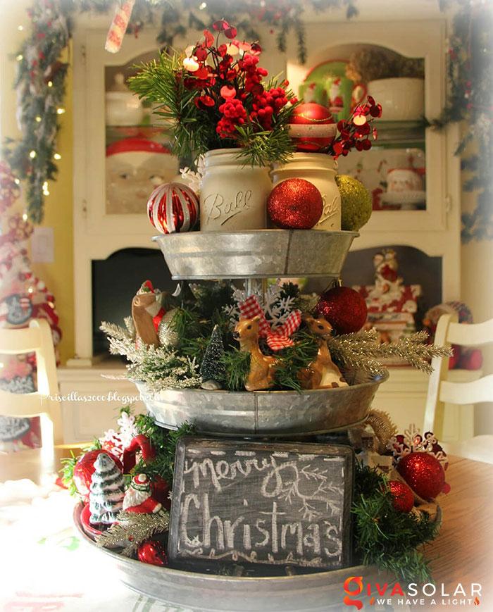 trang trí bàn ăn Noel tự làm tuyệt vời 7