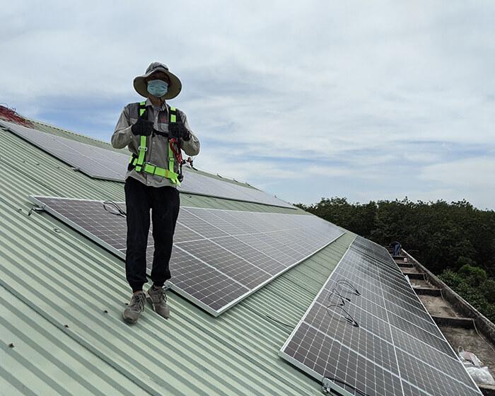 Dự án điện mặt trời hòa lưới 35KW cho Nhà thờ giáo xứ Xuân Sơn 11