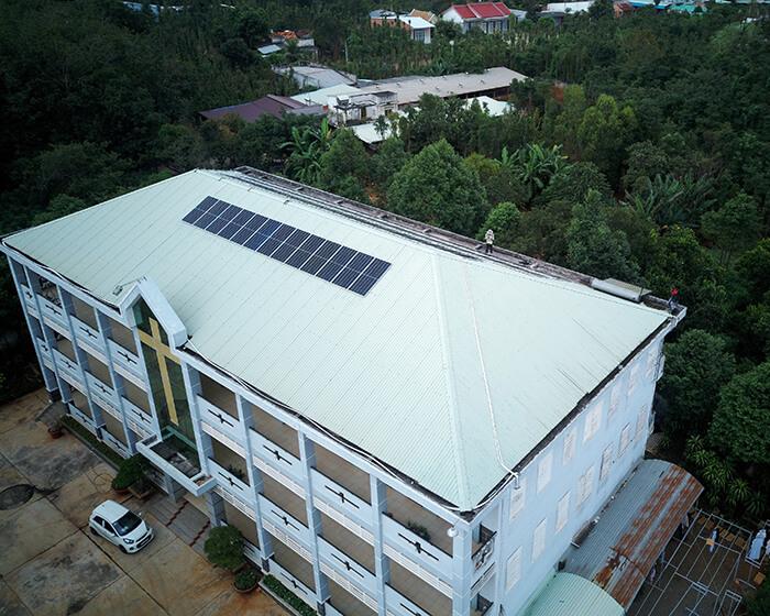 Dự án điện mặt trời hòa lưới 35KW cho Nhà thờ giáo xứ Xuân Sơn 2