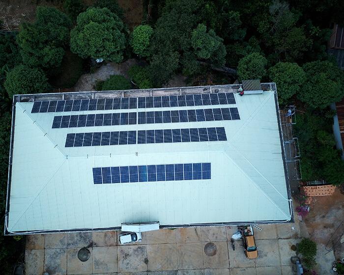 Dự án điện mặt trời hòa lưới 35KW cho Nhà thờ giáo xứ Xuân Sơn 3