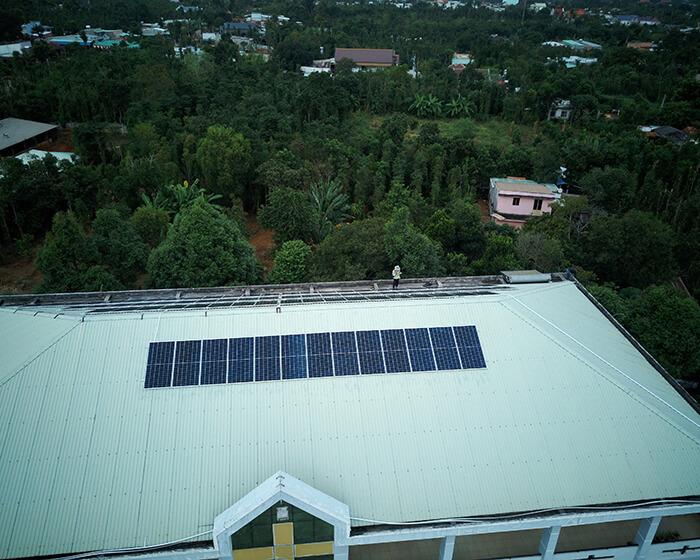 Dự án điện mặt trời hòa lưới 35KW cho Nhà thờ giáo xứ Xuân Sơn 4