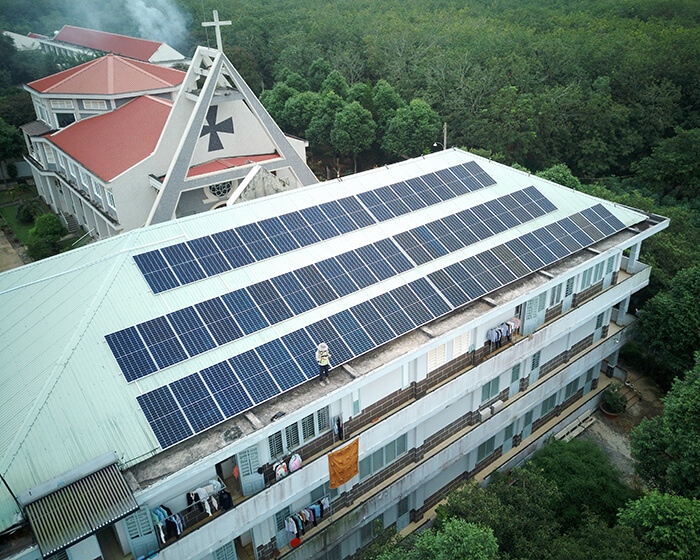 Dự án điện mặt trời hòa lưới 35KW cho Nhà thờ giáo xứ Xuân Sơn 5