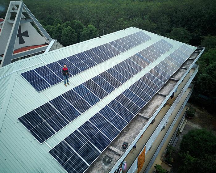 Dự án điện mặt trời hòa lưới 35KW cho Nhà thờ giáo xứ Xuân Sơn 6