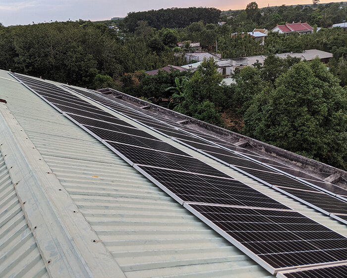 Dự án điện mặt trời hòa lưới 35KW cho Nhà thờ giáo xứ Xuân Sơn 8