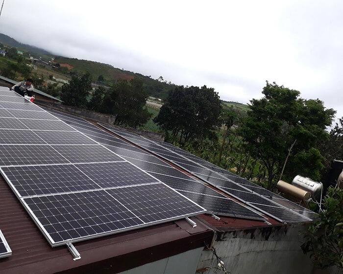 Dự án lắp điện mặt trời hòa lưới 30KW cho chú Sậu ở Lâm Đồng 3