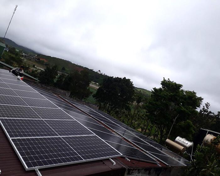 Dự án lắp điện mặt trời hòa lưới 30KW cho chú Sậu ở Lâm Đồng 4