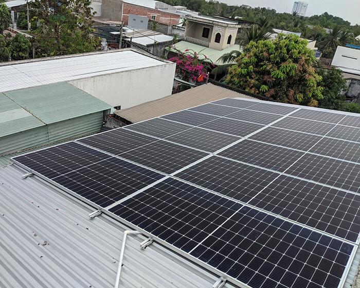 hệ thống năng lượng mặt trời 5KW cho chú Nang ở Bến Tre 3