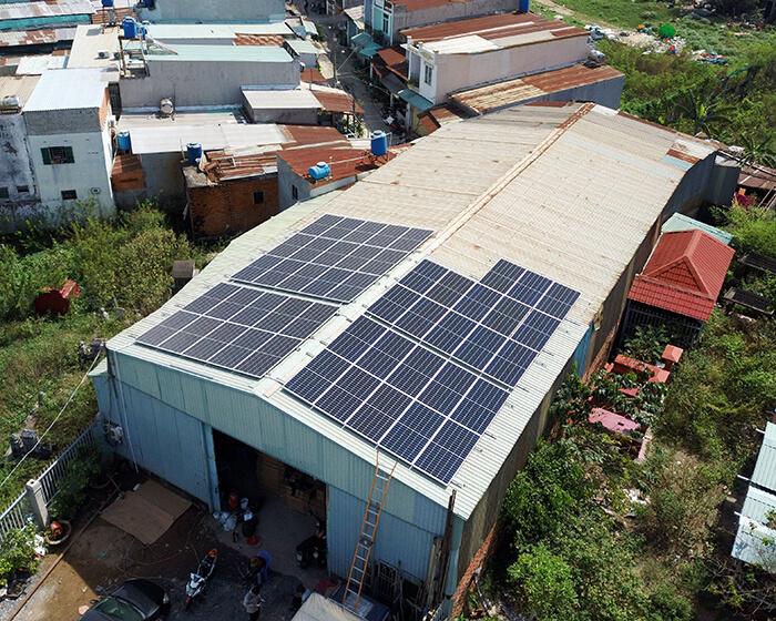 Lắp đặt điện mặt mặt trời lần 2 cho Anh Kiệt ở Bình Chánh với 21KW 3