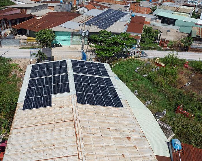 Lắp đặt điện mặt mặt trời lần 2 cho Anh Kiệt ở Bình Chánh với 21KW 4
