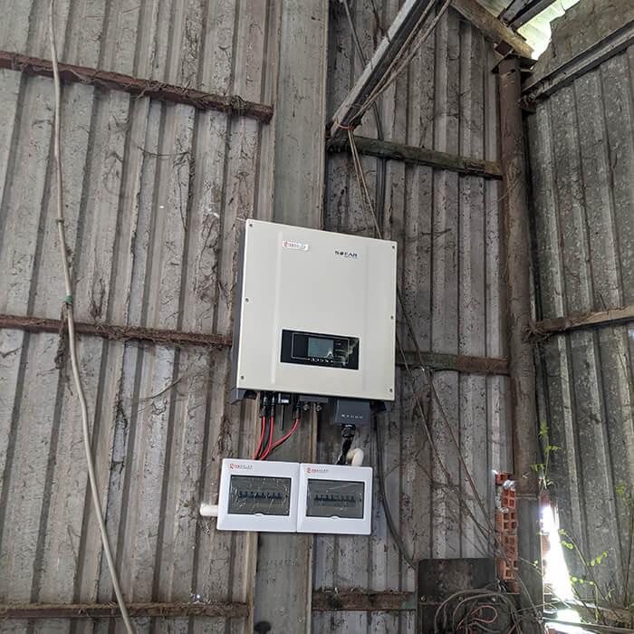 Lắp đặt điện mặt mặt trời lần 2 cho Anh Kiệt ở Bình Chánh với 21KW 7