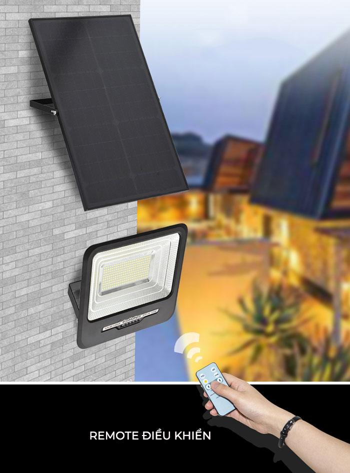 Đèn pha led chạy điện mặt trời công suất lớn 300W GV9300 2