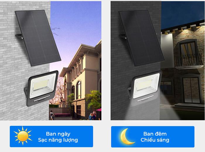 Đèn pha năng lượng mặt trời công suất lớn 200W GV9200 2