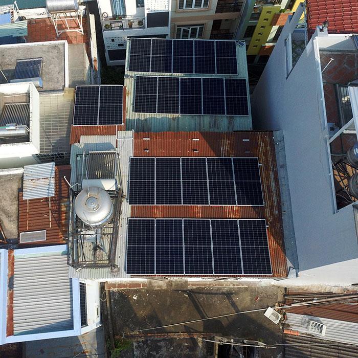 Hệ thống hòa lưới lưu trữ điện mặt trời 10KW cho anh Nhật tại Tân Bình 5