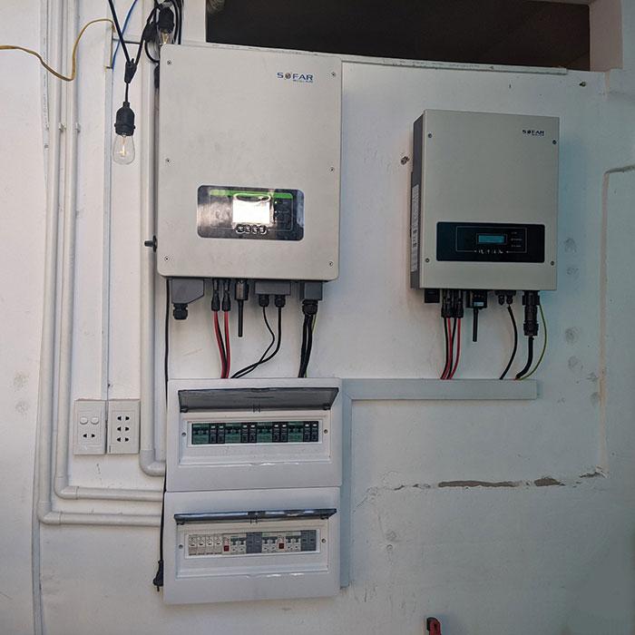 Hệ thống hòa lưới lưu trữ điện mặt trời 10KW cho anh Nhật tại Tân Bình 7