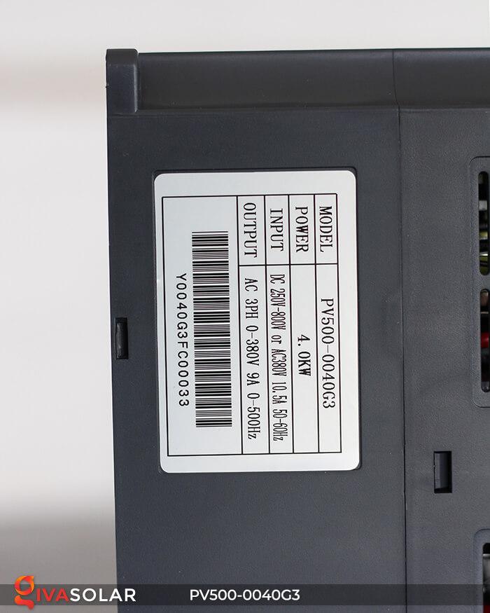 Inverter bơm nước năng lượng mặt trời 3 pha PV500-0040G3 4KW 11