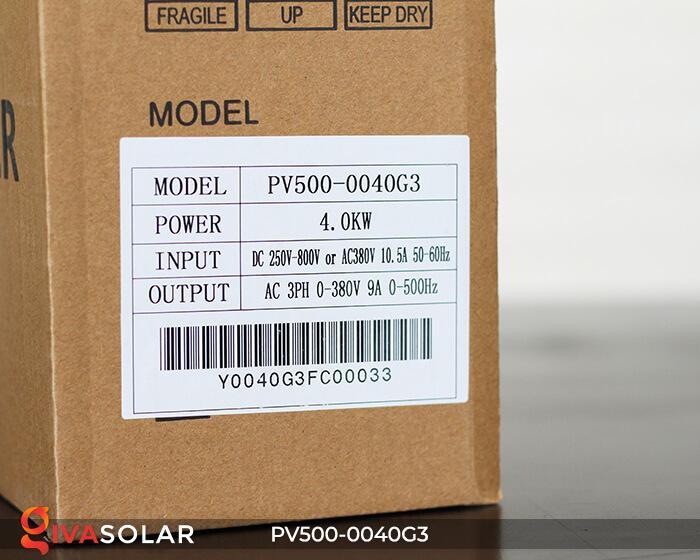 Inverter bơm nước năng lượng mặt trời 3 pha PV500-0040G3 4KW 12