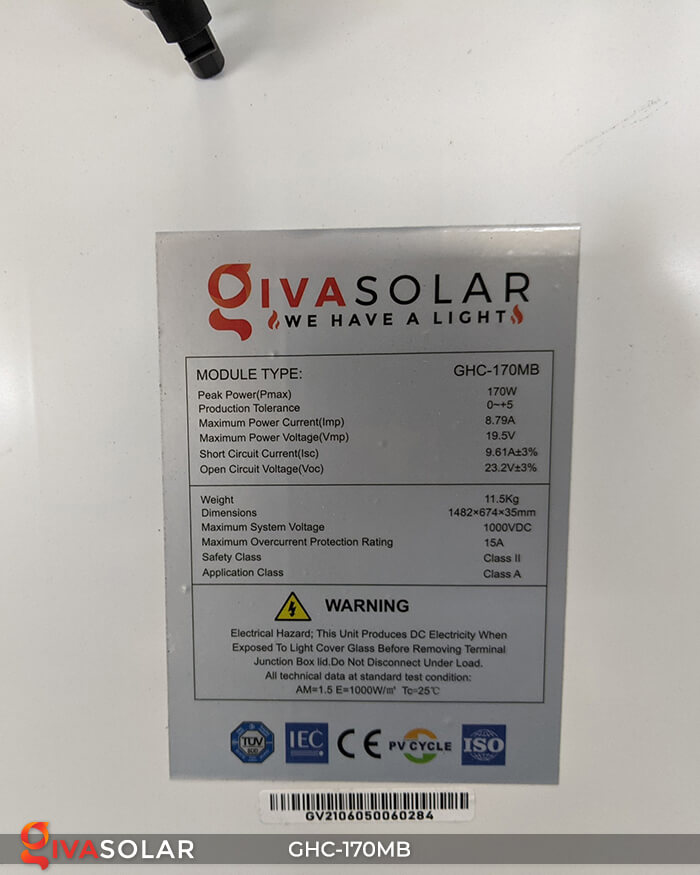 Pin mặt trời mono 170W 12