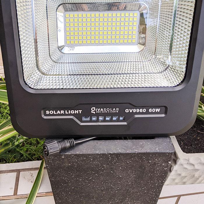 Đèn pha Led năng lượng mặt trời 60W GV9960 9